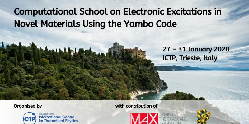 The Computational School on Electronic Excitations in Novel Materials Using the Yambo Code in Trieste